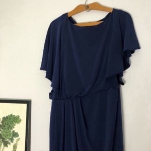 Vince Camuto navy cinched dress size Small